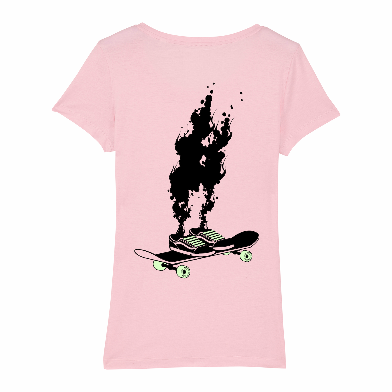 Skate T-shirt women, spontaneous combustion, pink