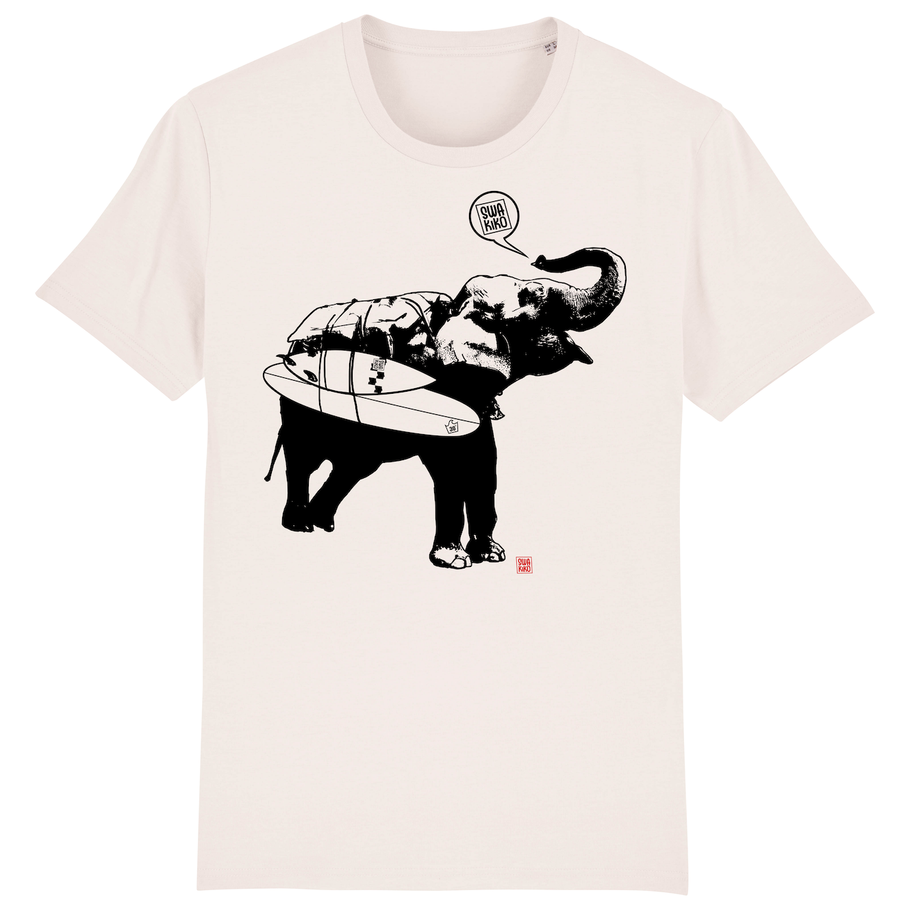 Surf t-shirt men white, Elephant