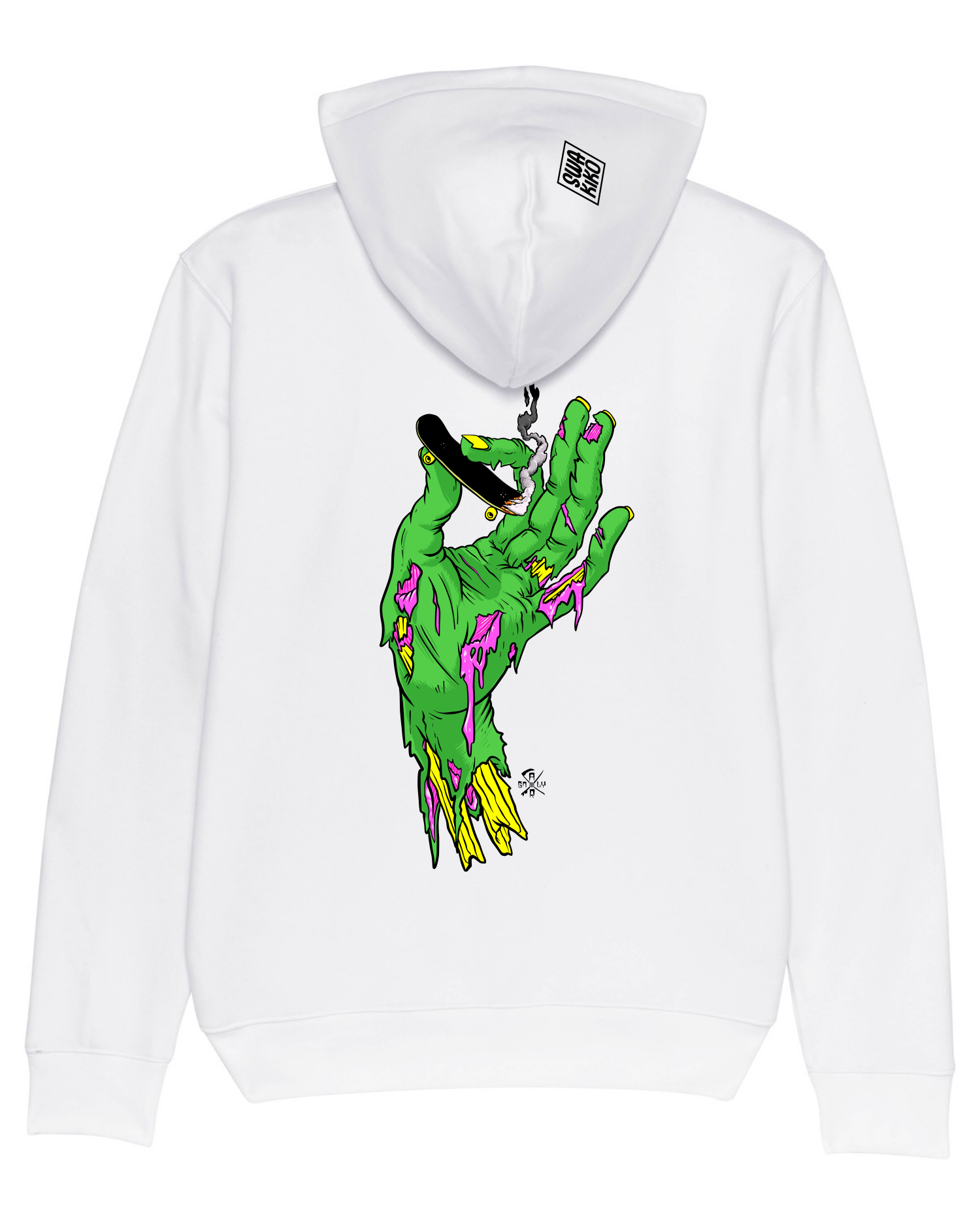 Surf Hoodie Surflife Rocks, white