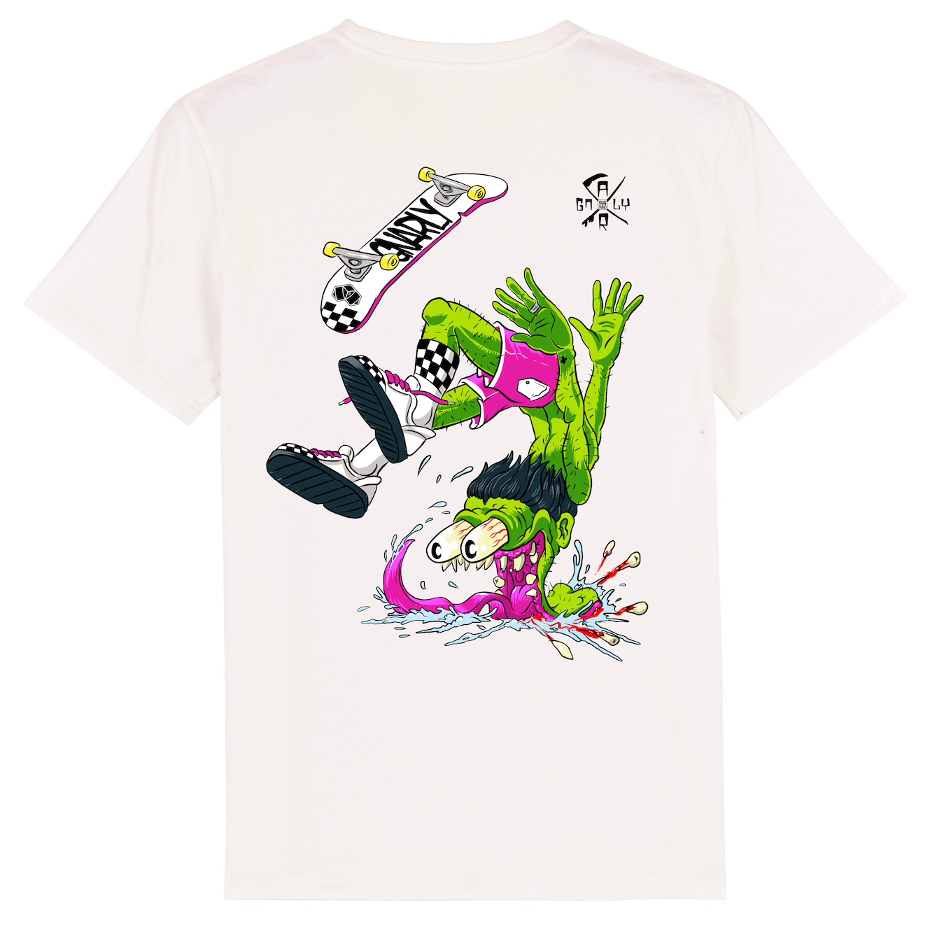 Skate t-shirt men white, BigFlip