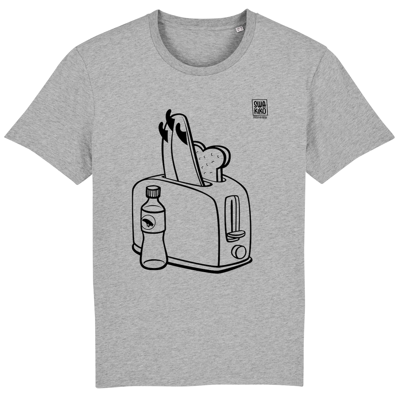 Surf t-shirt men grey, Toaster