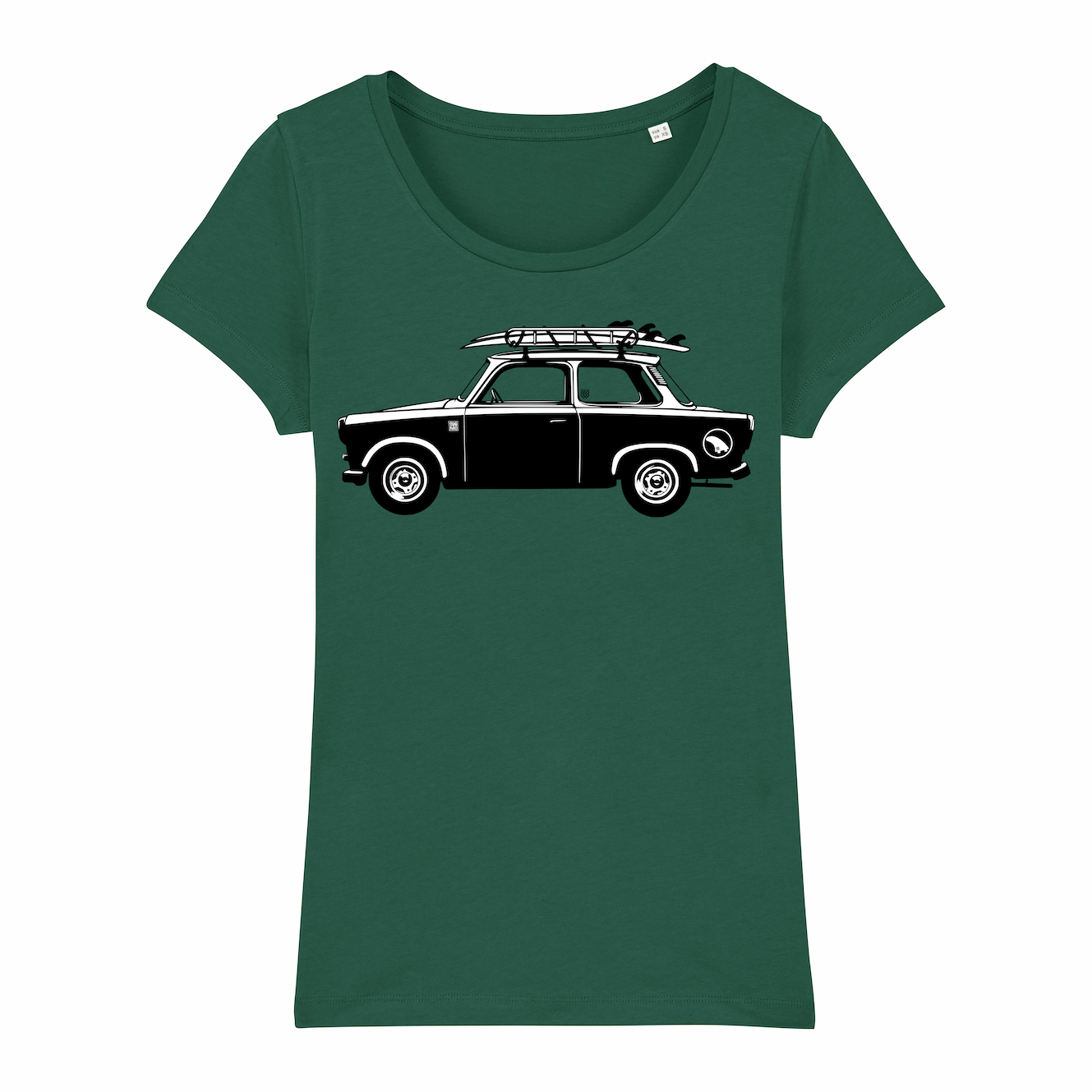 Surf T-shirt women, Trabant Classic, green