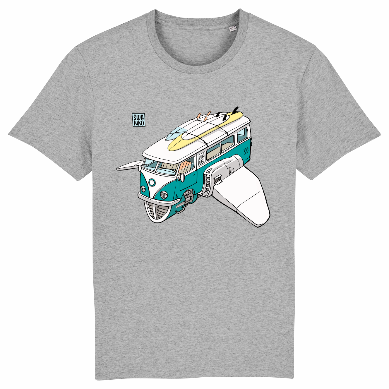 Surf t-shirt men grey, Volkswagon Surfship