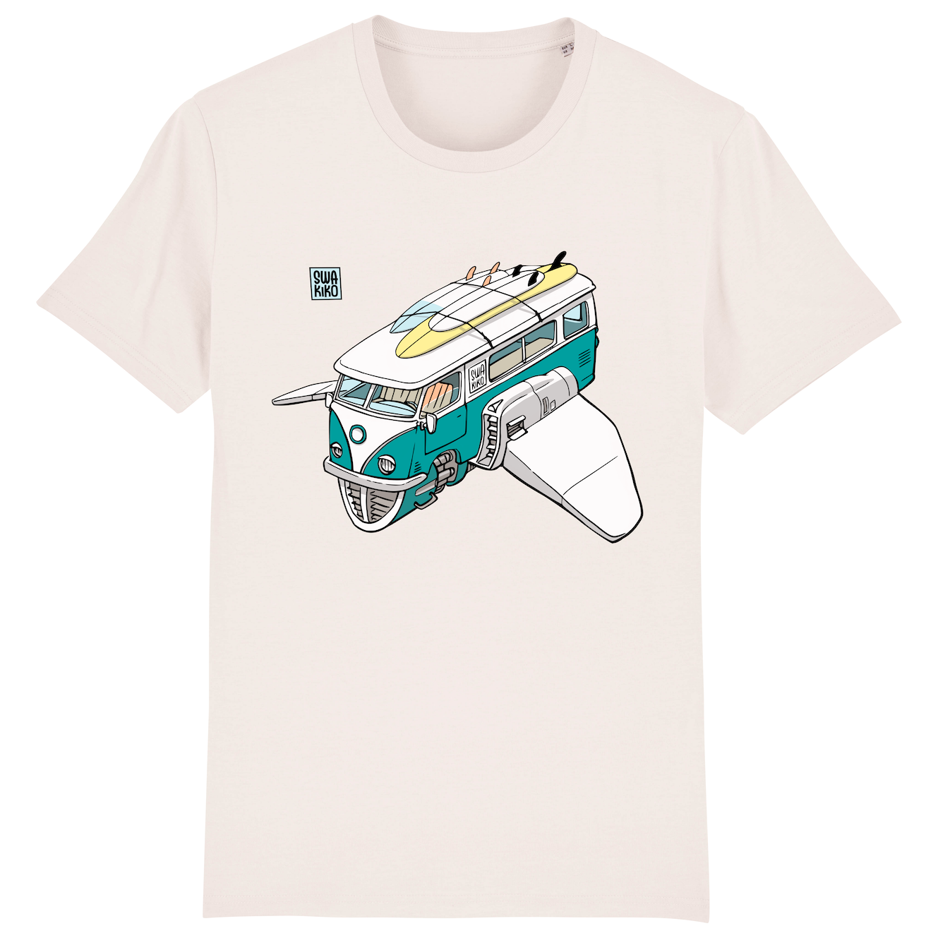 Surf t-shirt men white, Volkswagon Surfship