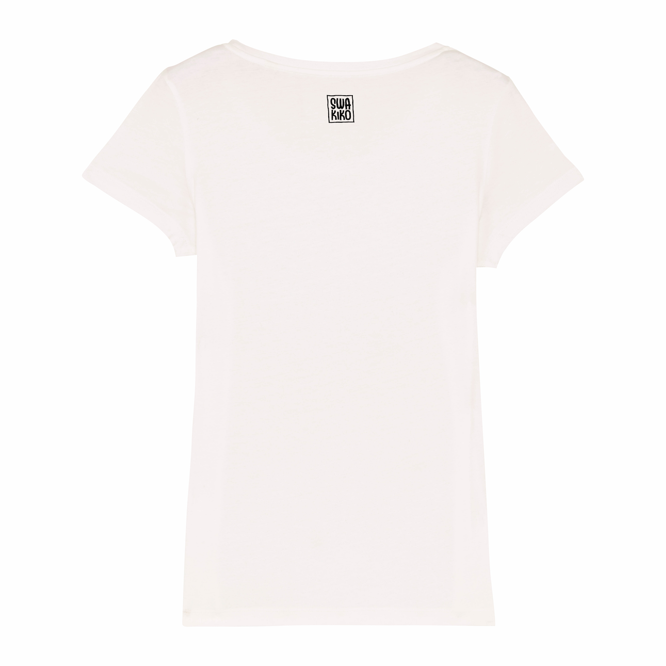 Logo SWAKIKO, Surf t-shirt women white