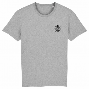 Surf T-shirt grey. Front side