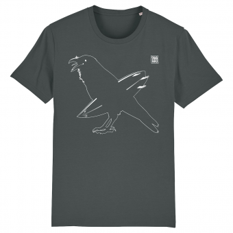 Surf T-shirt men, Surfing Crow