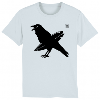 Surf t-shirt men blue, The Snaking Crow