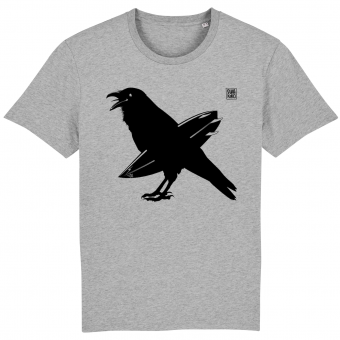 Surf t-shirt men grey, The Snaking Crow
