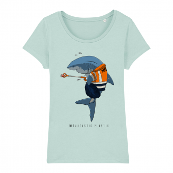 Cleaning Shark women T-shirt