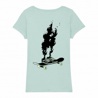 Skate T-shirt women, Spontaneous Combustion