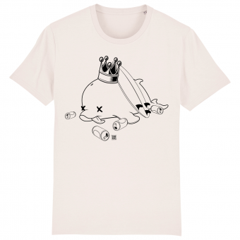 Surf t-shirt men white, Drunk Dolphin