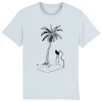 Surf T-shirt men, Grave with Palmtree