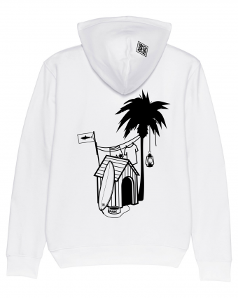 Surf Hoodie Doghouse Palmtree, white
