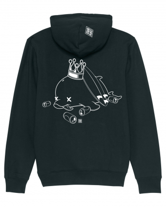 Surf Hoodie Tipsy Dolphin, black