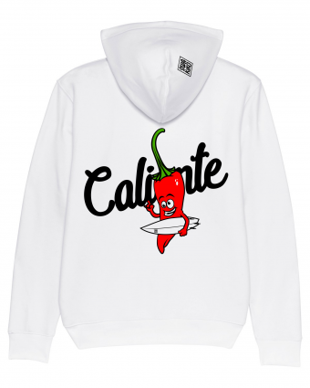 Hoodie Stoked Pepper white