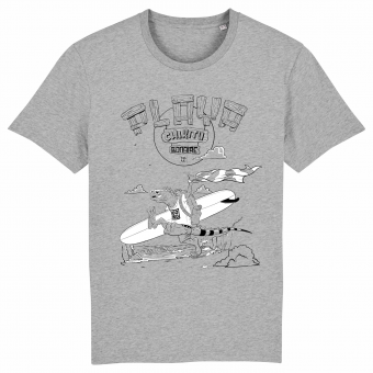 Surf t-shirt men, Playa Chikitu, grey T-shirt