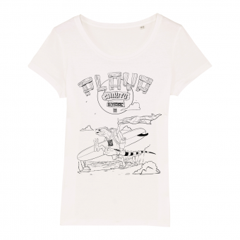 Playa Chikitu SURF T-shirt white, women