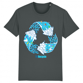 Surf T-shirt men, Recycle