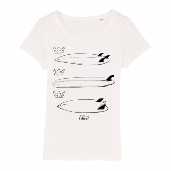 Surf T-shirt Scheef white, women front