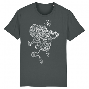 Surf t-shirt men anthracite, Septopus