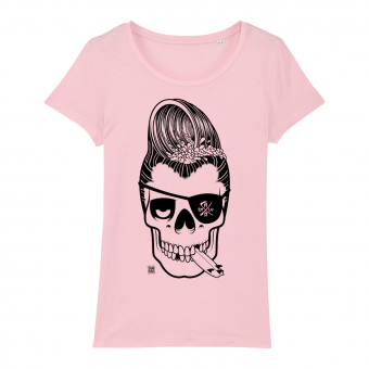 Surf t-shirt women, Haole Surfer, pink