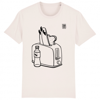 Surf t-shirt men white, Toaster