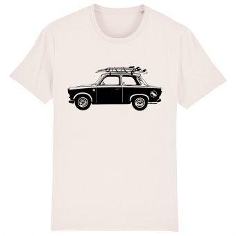 Surf t-shirt men white, Trabant