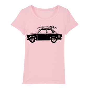 Surf t-shirt women, trabant, pink