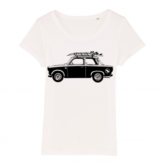 Surf t-shirt women, trabant, white