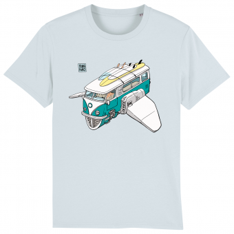 Surf t-shirt men blue, Volkswagon Surfship