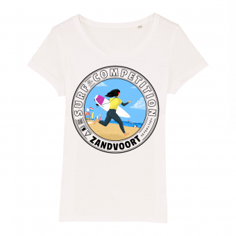 Surf Competition Zandvoort white T-shirt, women